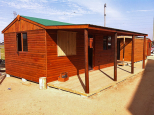 3.6m x 6m cabin with baboon proof window shutter