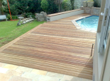 Balau deck left in natural state