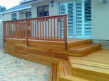 with Tanalith treated pine balustrade coated with woodseal