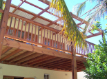 Garapa deck on pine substructure with pine balustrade & pergola