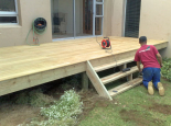 Garapa deck with steps