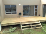 AFTER: Garapa deck with steps