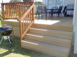 Garapa deck with pine balustrade