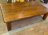 Kiaat coffee table with 50mm deep planed top